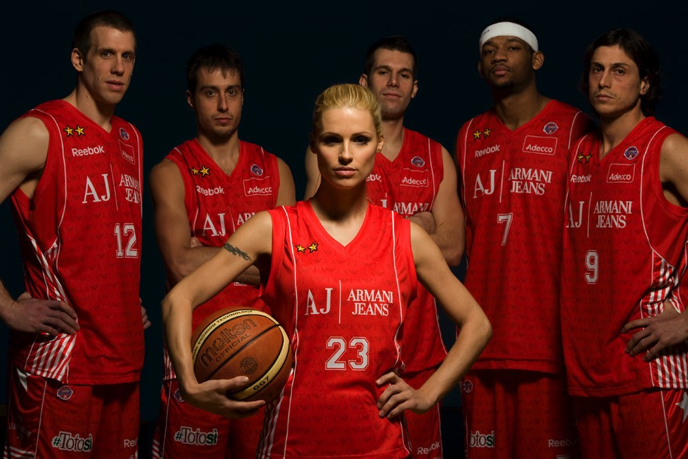 Michelle Hunziker e A.J.basket Team